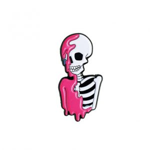 Melting Skeleton Pin