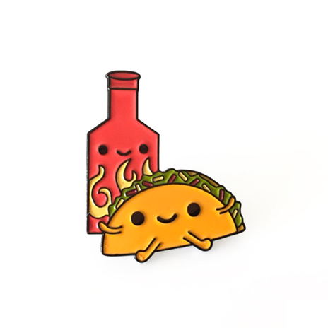 Taco & Hot Sauce Enamel Pin