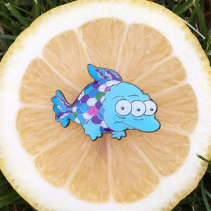 Blinky Rainbowfish Pin