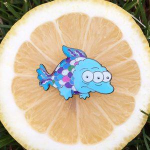 Blinky Rainbowfish Pin