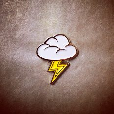 Cloud & Thunderbolt Emoji Pin