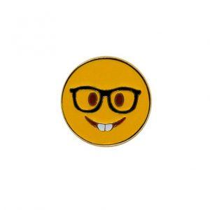 Nerd Face Emoji Pin