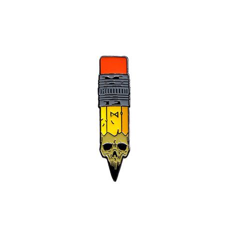 Pen Skull Pin