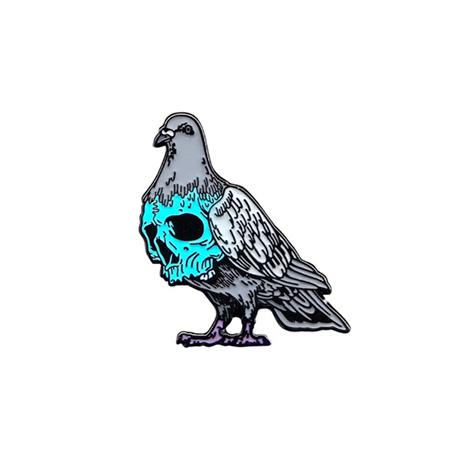 Pigeon Skull Soft Enamel Pin