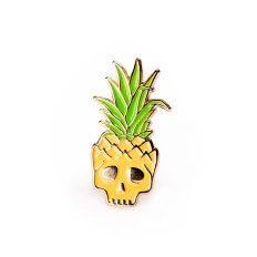 Pineapple Skull Pin