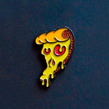 Pizza Skull Enamel Pin