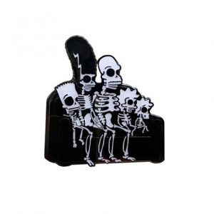 Glow in the Dark Simpsons Skeleton Pin
