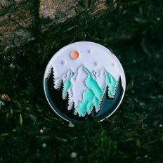 Mountains Enamel Pin