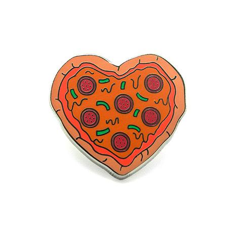 Pizza Heart Enamel Pin