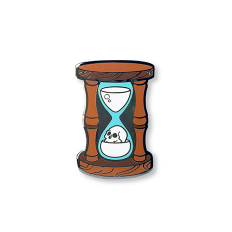 Time's A-Wastin' Hourglass Enamel Pin