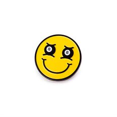 8-Ball Smiley Face Enamel Pin