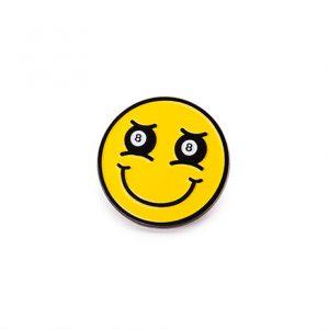 8-Ball Smiley Face Enamel Pin
