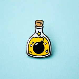 Bottle Bomb Enamel Pin