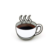 Coffee Mug Hard Enamel Pin