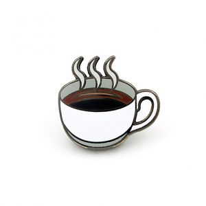 Coffee Mug Hard Enamel Pin