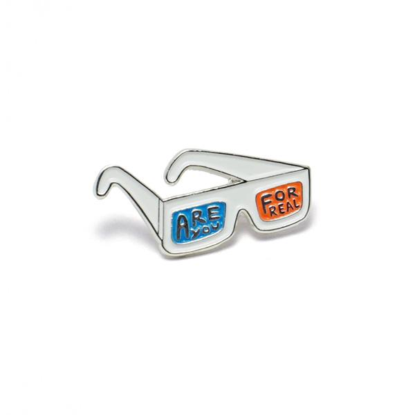 3D Glasses Enamel Pin