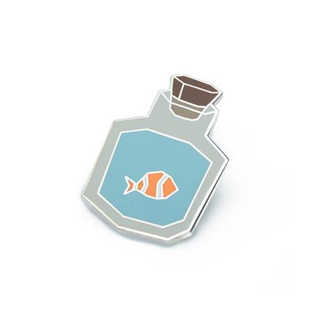 Bottled Fish Hard Enamel Pin