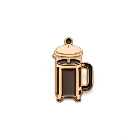 Coffee Press Enamel Pin