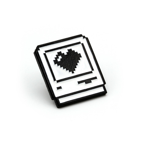 Computer Love Enamel Pin