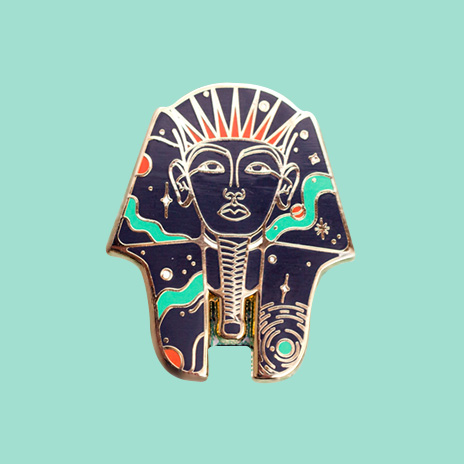 Cosmic Pharaoh Enamel Pin