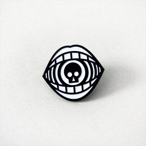 Death Calls Skull Enamel Pin