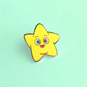 Happy Star Hard Enamel Pin