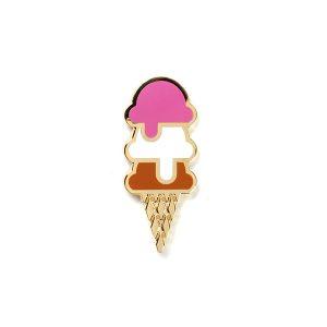 Ice Cream Enamel Pin