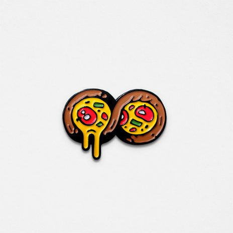 Infinite Pizza Enamel Pin