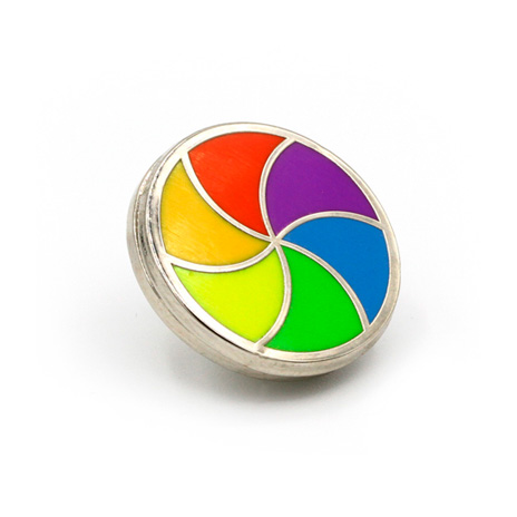 OS Spinner Enamel Pin