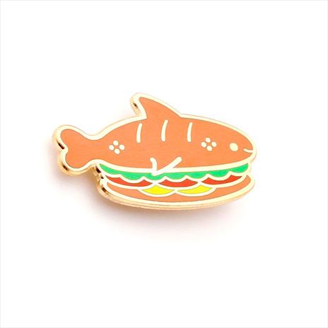 Sandwich Shark Enamel Pin