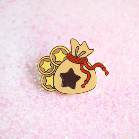Bell Bag Enamel Pin
