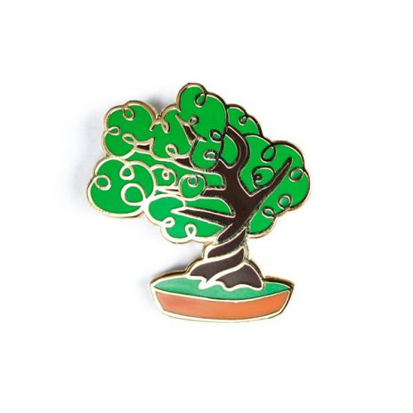 Bonsai Tree Enamel Pin