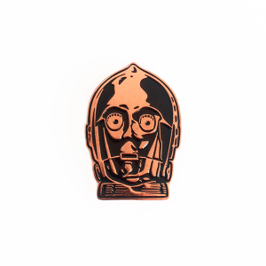 Copper Bot Enamel Pin