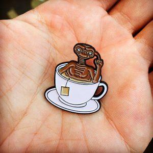 E. Tea Enamel Pin