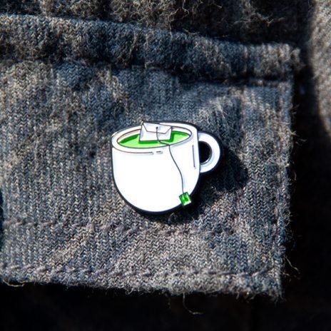 Green Tea Enamel Pin
