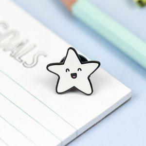 Happy Star Enamel Pin