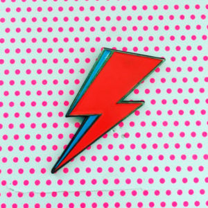 Lightning Bolt Enamel Pin