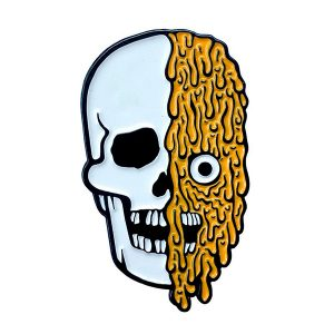Melting Skull Enamel Pin