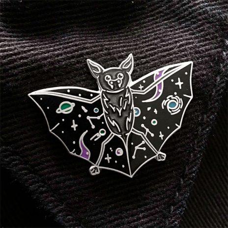 Nebula Night Bat Enamel Pin