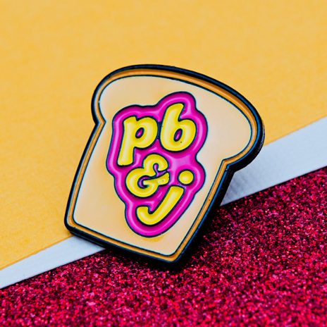 Peanut Butter and Jelly Enamel Pin
