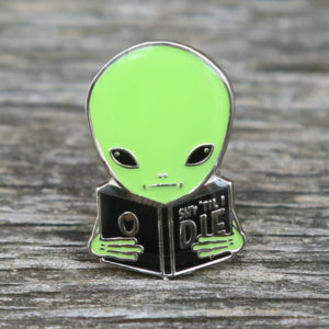 Shy Guy Alien Enamel Pin