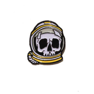 Space Skull Enamel Pin