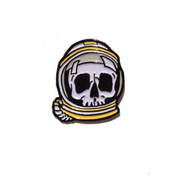 Space Skull Enamel Pin