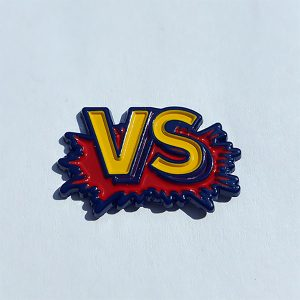 "Street Fighter II ""VS"" Enamel Pin"