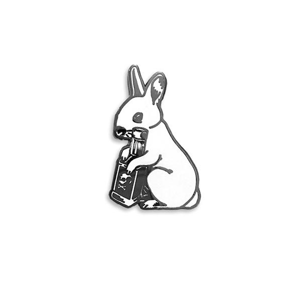 Booze Bunny Enamel Pin