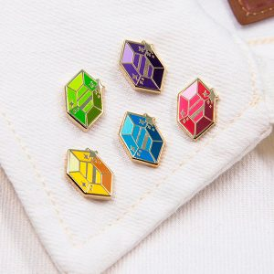 Gem Enamel Pins