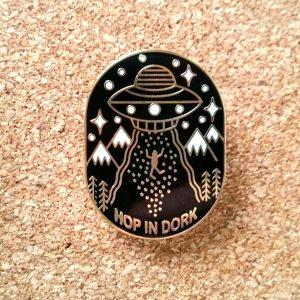 Hop In Dork UFO Enamel Pin