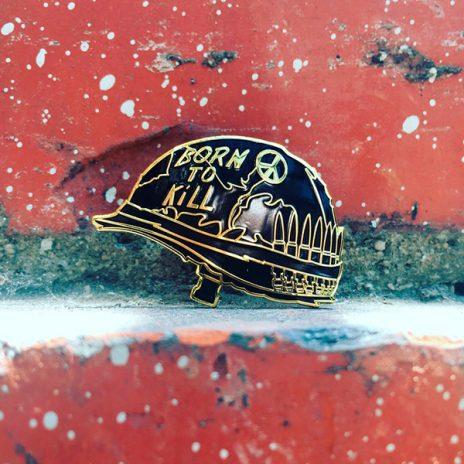 Joker Helmet Enamel Pin