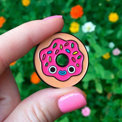 Pink Donut Lapel Pin
