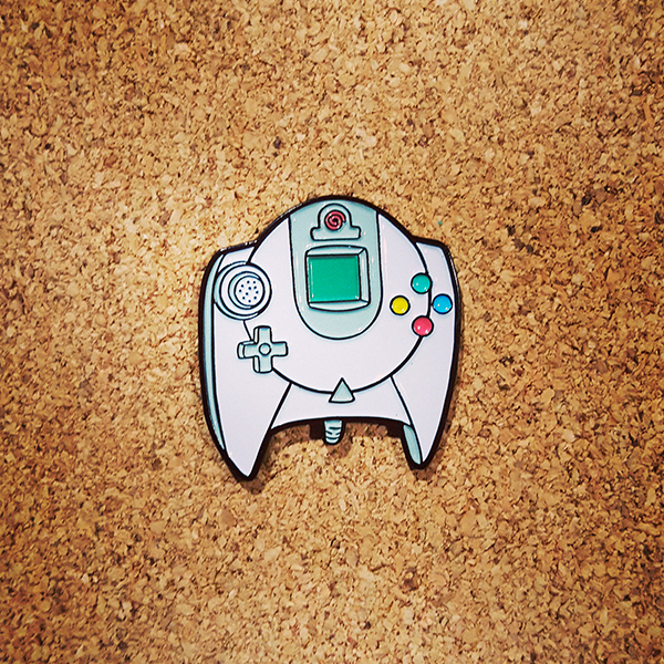 Sega Dreamcast Controller Enamel Pin